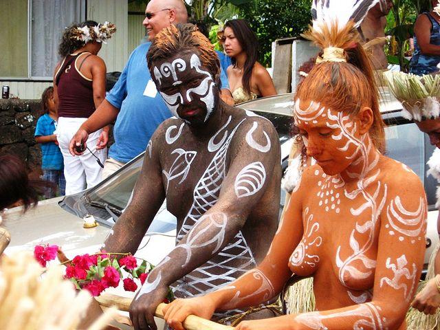 couple, tapati - rapa nui festival 2011