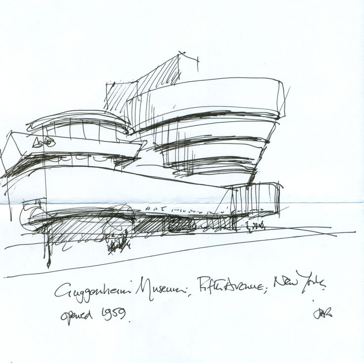 Architecture modern architecture sketches home design for Architectural plans of famous buildings