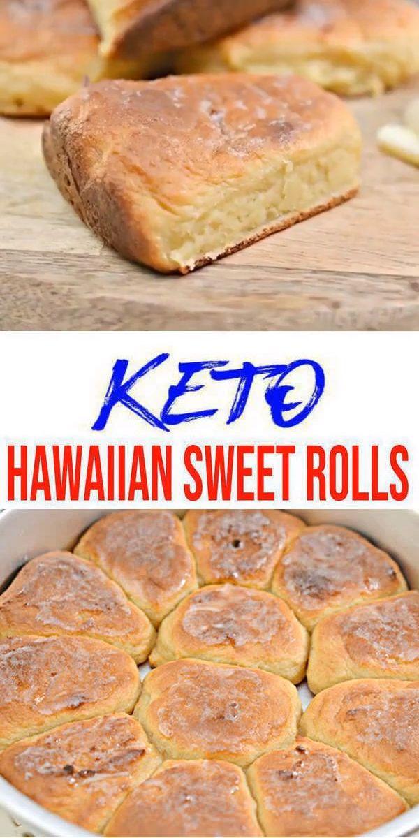 BESTE Keto Hawaiian Süße Brötchen! Low Carb Bread – Dinner Roll Idea – Schnell & Einfach Ketogene Diät Rezept – Komplett Keto-freundlich – Glutenfrei