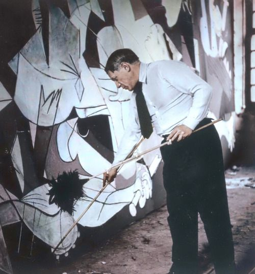 Pierre-Jean Maurel -  Pablo Picasso working on Guernica...