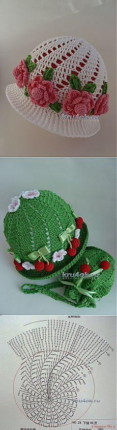 Вязаные крючком шапочки — работы Марины Стоякиной - вязание крючком на kru4ok.ru