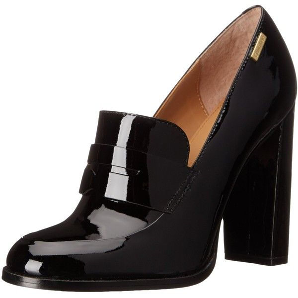 Calvin Klein Women's Kathryn Penny Loafer ($51) ❤ liked on Polyvore featuring shoes, loafers, heels, zapatos, calvin klein shoes, calvin klein footwear, thick heel shoes, penny loafers shoes and chunky heel shoes