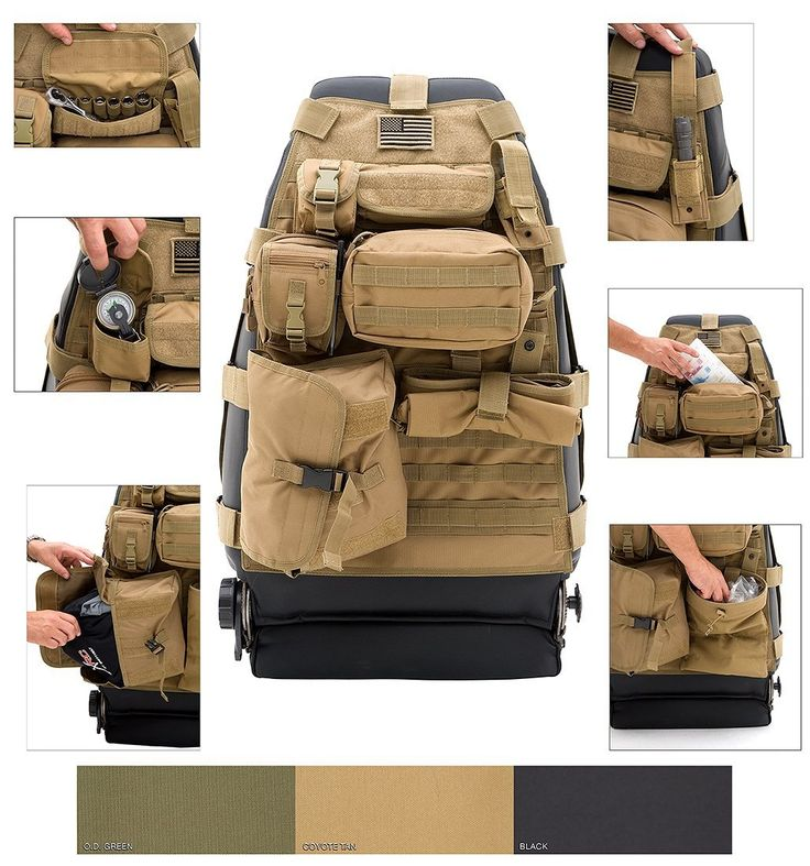 Tactical Car GEAR Tan Front Seat Cover