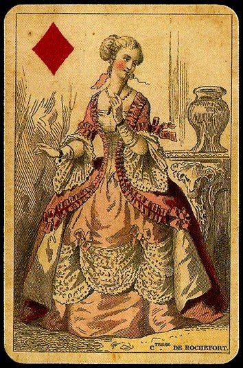 Репринт от компании Ediciones del Prado, колоду назвали Baraja Historica. Каждая масть - это историческая эпоха во Франции: бубны - рококо, трефы - барокко, пики - ранний ренессанс, червы - поздний ренессанс. Кроме того на каждой карте реальный персонаж с подписанным именем внизу. Благодаря тому что валеты не подписаны их можно отличить от королей.