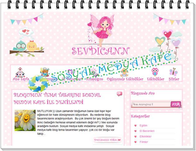 sevdicann kişiye özel blogger tema tasarımı