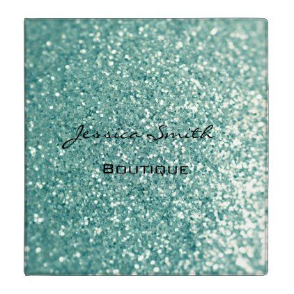 Proffesional elegant glamorous faux glittery 3 ring binder - #chic gifts diy elegant gift ideas personalize