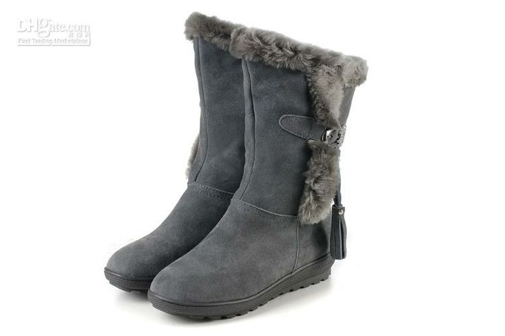 Wholesale Snow Boots - Buy Snow Boots Grey Height-increasing Sole
