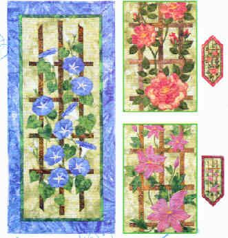 17 best images about trellis quilt on pinterest twists for Garden trellis designs quilt patterns
