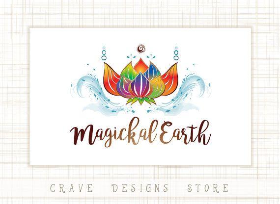Premade Lotus Flower Vector Spa Logo Organic by CraveDesignsStore