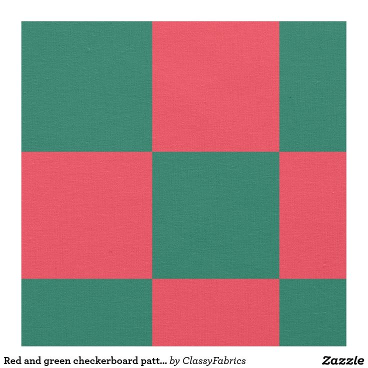 Red and green checkerboard pattern fabric