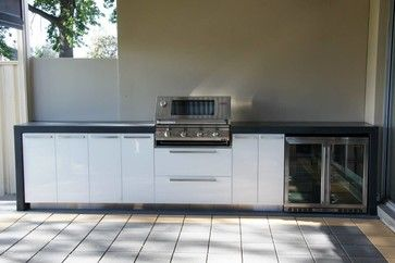 Divine Renovations Corinda BBQ Kitchen Extension #Outdoor #Kitchen #BBQ #Benchtop #Storage #Beer #Fridge