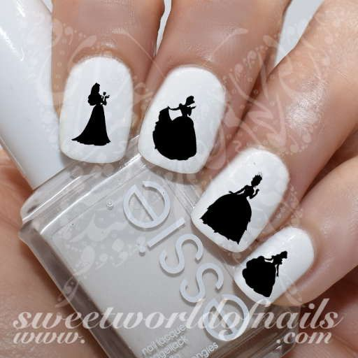 Princess Nail Art: 17 Best Ideas About Silhouette Nails On Pinterest