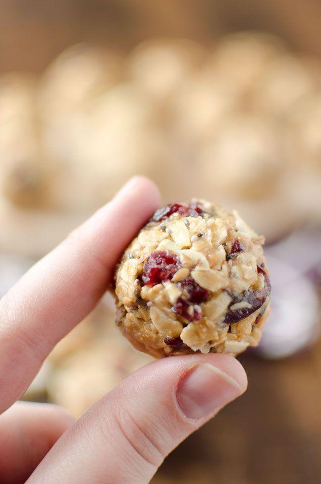 Cranberry Almond Energy Bites - Krafted Koch