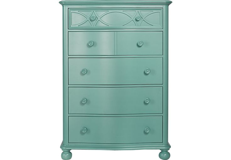 Cindy Crawford Home Seaside Blue Green Chest .699.99. 40W x 19.5D x 56H. Find affordable Dressers for your home that will complement the rest of your furniture. #iSofa #roomstogo