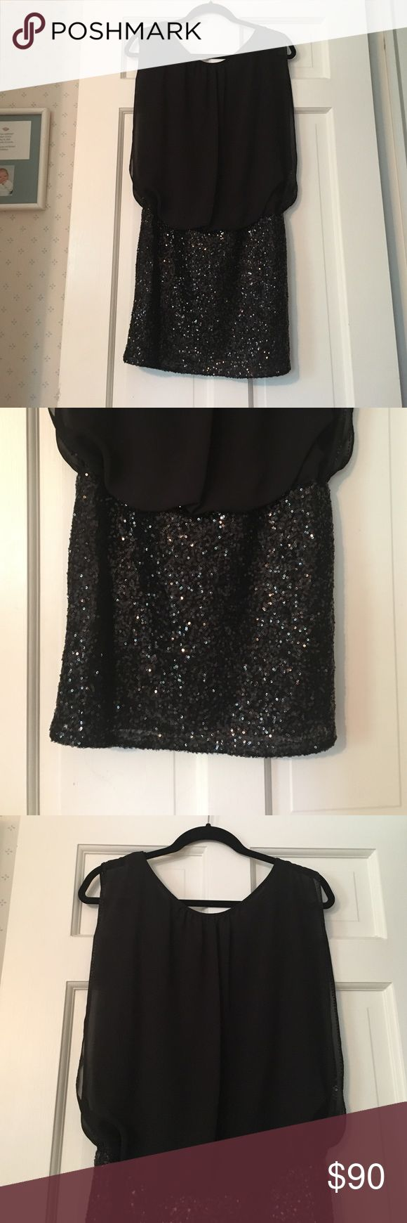 Aidan Mattox Sequined Combo Dress Has only been worn once. In excellent condition. Great for special occasions. Aidan Mattox Dresses