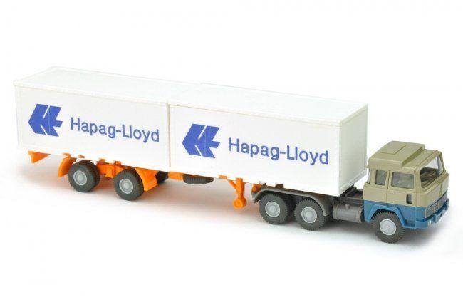 Hapag-Lloyd / 4 - Magirus 235 D, olivgrau / azurblau