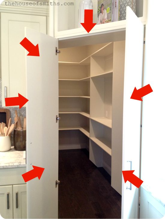 2013 Salt Lake City Parade of Homes = A Happy House Peeper Pantry mid-kitchen, but with hidden walk-in closet