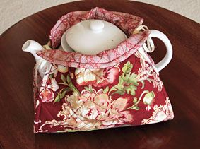 Teapot Cozy Pattern Download by Susan Terpin available now at ConnectingThreads.com