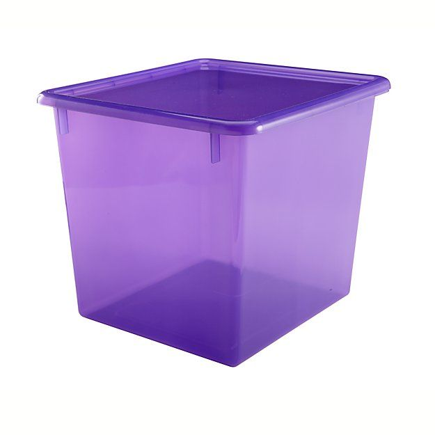 Kids' Storage Containers: Kids Colorful See-Through Stackable Box   The Land of Nod