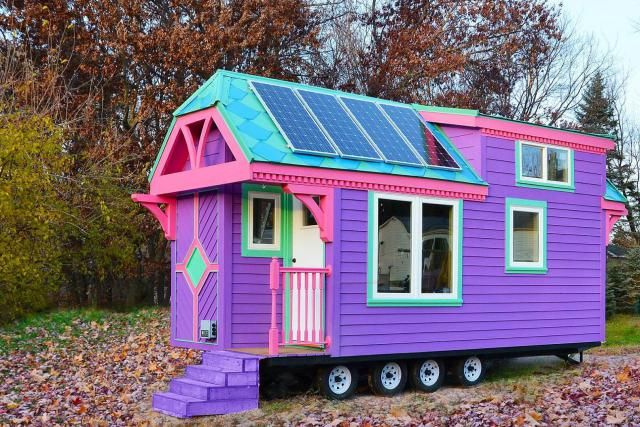 Buh-bye, boring siding! A new tiny house trend may be starting to hatch.: Tiny, Mighty and BoldAll the Colors of the RainbowCute, Colorful and CharmingA Happy Hued HomeThis Tiny House's Interior is Mind BlowingHit the Road Like a Free SpiritSomething Pretty in PinkWe Love This Painted LadyCharming, Colorful and CheapBetter Than a Cardboard Box