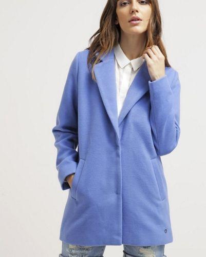 Nümph LOTTA Krótki płaszcz niebieski blue yonder