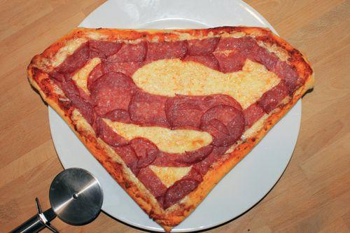 Superman pizza.