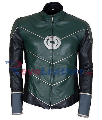 Ryan Reynolds Green Lantern Mens Costume Leather Jacket Celebrity