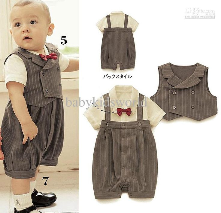 Cheap Baby Suit - Cute Gentleman Styles Boys Suit Popular Baby Suit Stripe Online with $10.54/Piece | DHgate