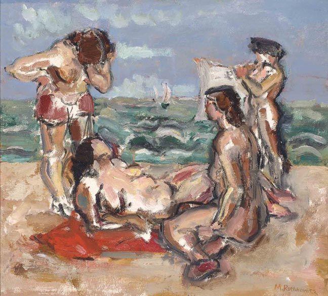 Beach Scene By Mark Rothko Part Of Reed College Art