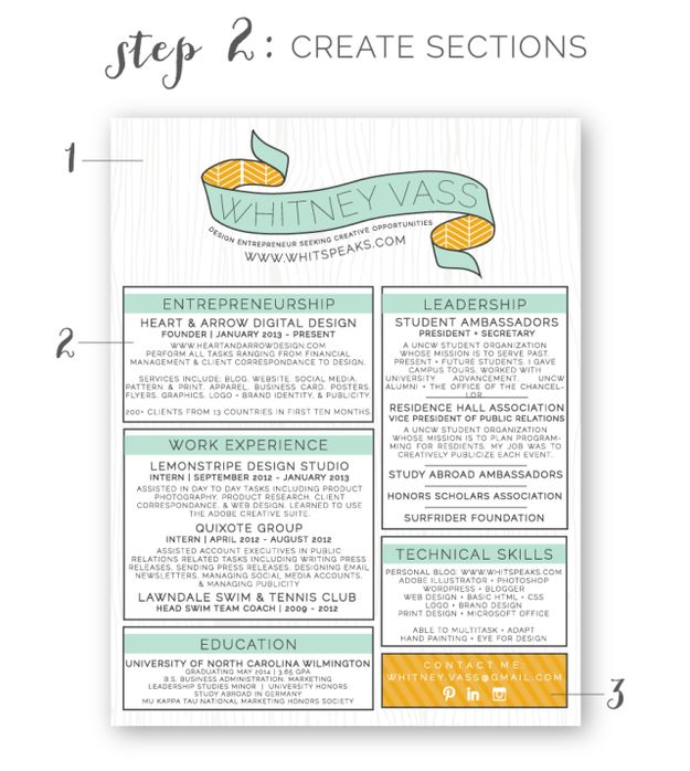 27 Beautiful Résumé Designs You'll Want To Steal - I love the sections/header on this one.