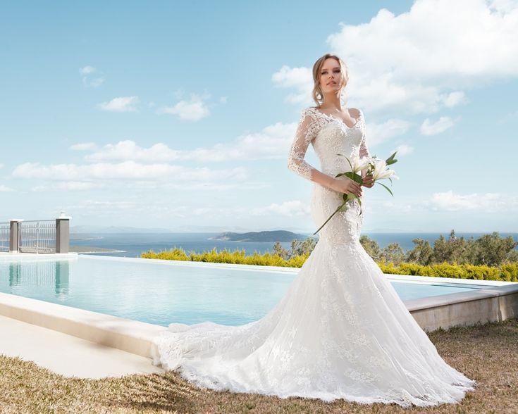2016 omuzdan dantelli gelinlik modelleri-dantelli gelinlik modelleri 2016-nova bella gelinlik nişantaşı istanbul
