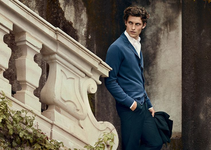 An refined sweater can be worn as a jacket #advcampaign #ss14 #canali1934