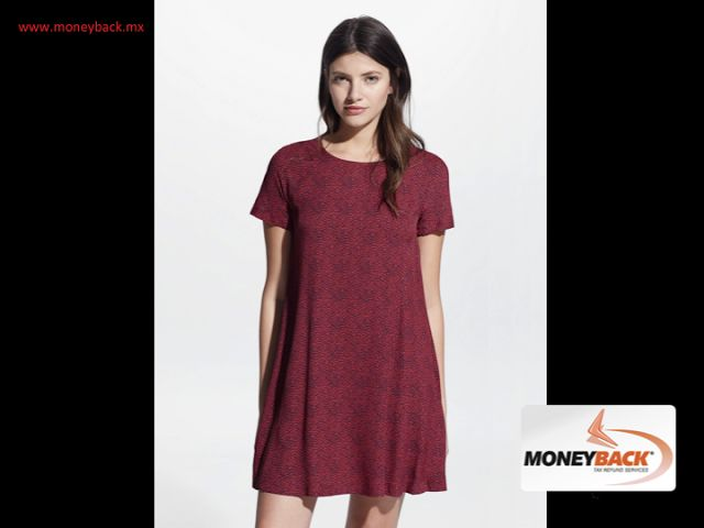MONEYBACK MEXICO. The fluid printed dress available in red or black from MANGO, with round neck, short sleeves and teardrop closure on the back is ideal for warm weathers, comfortable and cool. MANGO stores are affiliated toMoneyback,a tax refund service for foreign tourists traveling in Mexico.#moneybackwww.moneyback.mx  MONEYBACK MÉXICO.El vestido fluido estampado en color rojo o negro de MANGO con cuello redondo, manga corta y cierre de lagrima en la parte posterior es ideal para esta…