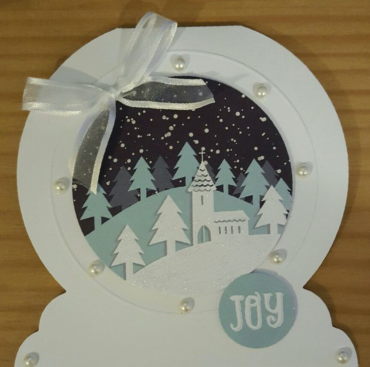 Snow Globe's by Craftwork Cards. Made by Jane Compton