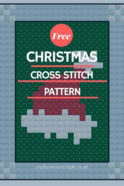 Free cross stitch advent calendar pattern, Santa H...