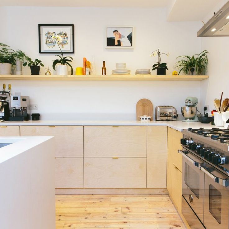 Current obsession: Plywood kitchens