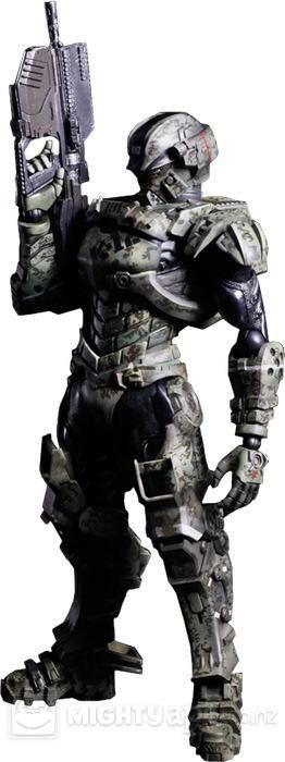 Starship Troopers Invasion Play Arts Kai Major Henry Varro Action Figure - The Movie Store