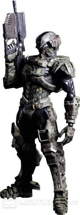 Starship Troopers Invasion Play Arts Kai Major Henry Varro Action Figure - The Movie Store