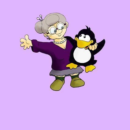 Pinguingeschichte - Pinguin und Oma - für Kinderbuch, mehr auf www.comicwald.de