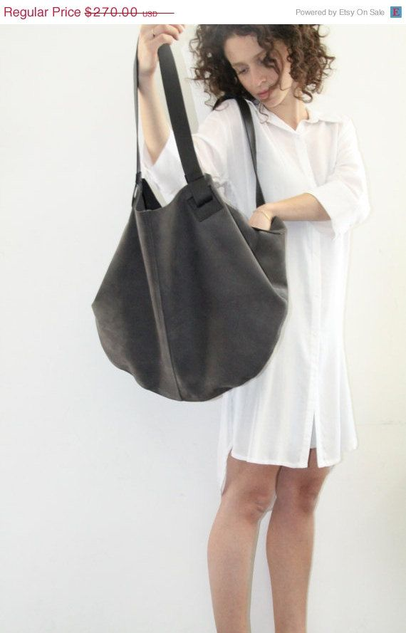 Dark Grey Leather Tote Bag- Soft Leather Bag - Big Gray Nubuck  Leather Bag - Shoulder Bag - Over Size Bag - Carolina Bag on Etsy, R$536,84