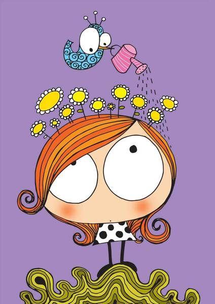 Primavera en mi cabeza de La Caja de Pintura por DaWanda.com