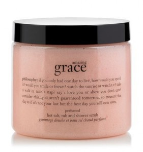 sea & me loves philosophy's sweetly scented salt body scrub. Perfect to keep your skin fresh for summer!