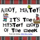 """40 Weeks included!! Create an interactive bulletin board, post the Mystery Word of the Week as a challenge, incorporate the clue in your morning meeting, or include this in your Work on Words during Daily 5. The """"Superhero"""" and """"Pirate"""" themes, 205 pages each, are included in this download so you can choose the theme that best fits with your class! $"""