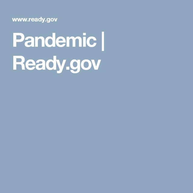 Pandemic | Ready.gov