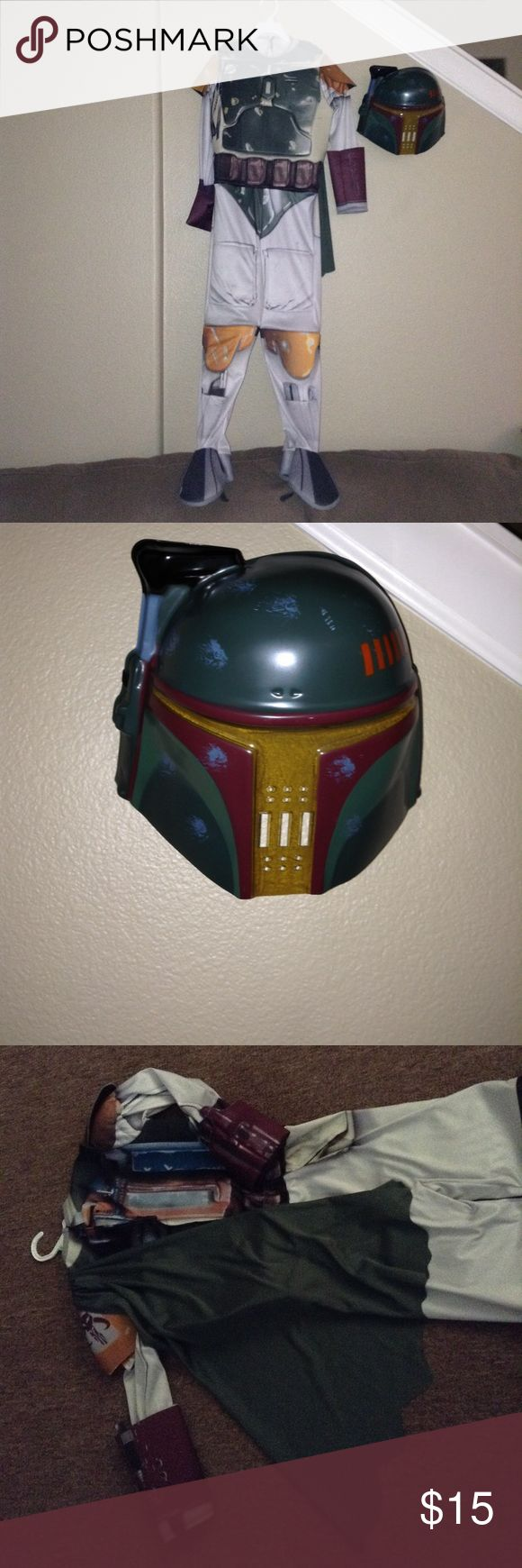 Boba Fett costume Worn once, Star Wars Boba Fett costume. Comes with mask and side cape. No damage, like new condition! Rubie's Costumes Halloween