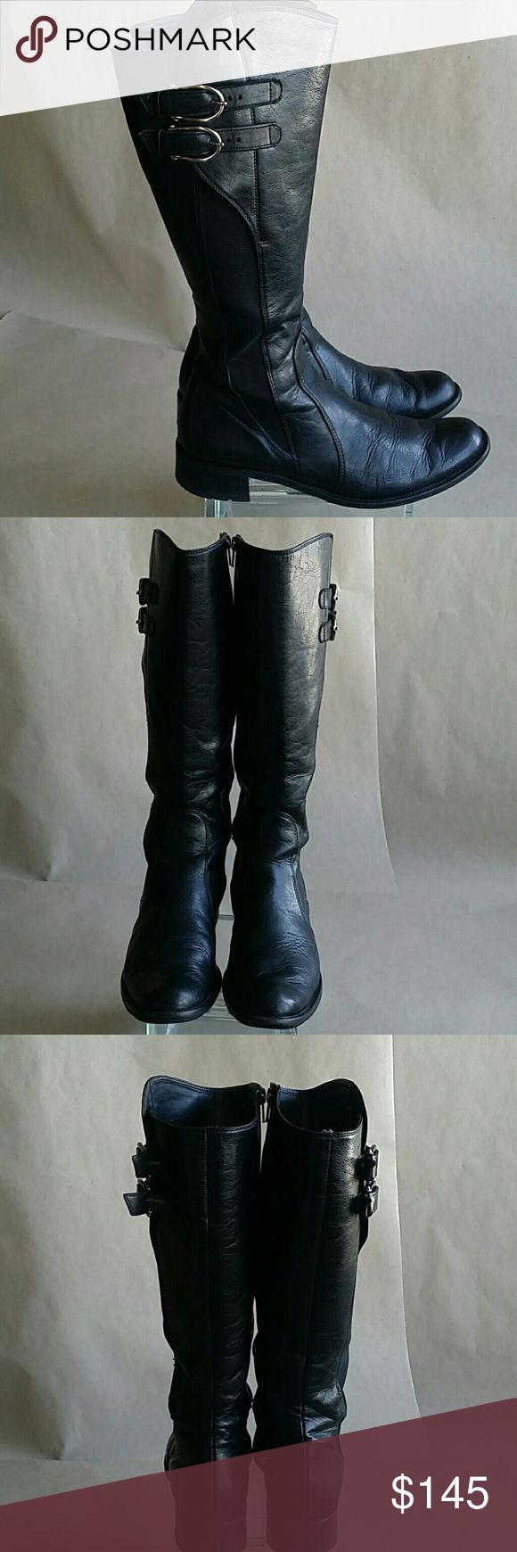 Paul Green boots PAUL GREEN Munchen black lethear knee high boots. Very good condition. Men's size 6.5 Paul Green Shoes Boots