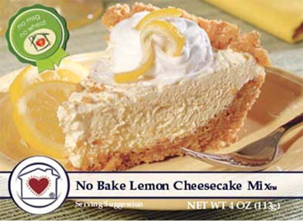 Real lemon infuses a fresh flavor into this No-Bake Lemon Cheesecake Mix. Just add cream cheese, whipped topping, and place into a graham crust. More delicious and more affordable than a store-bought