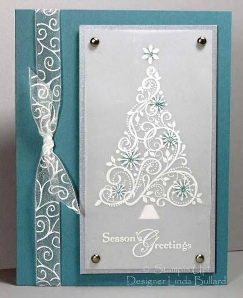 Swirled Tree by labullard - Cards and Paper Crafts at Splitcoaststampers Snow Swirled, Season of Joy (top)