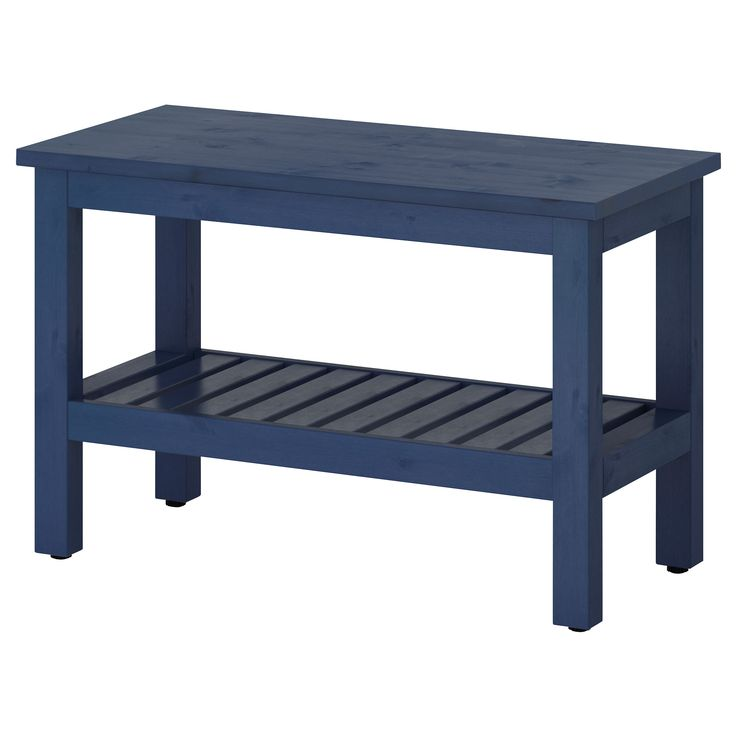 HEMNES Bench - blue - IKEA Great for entry way.