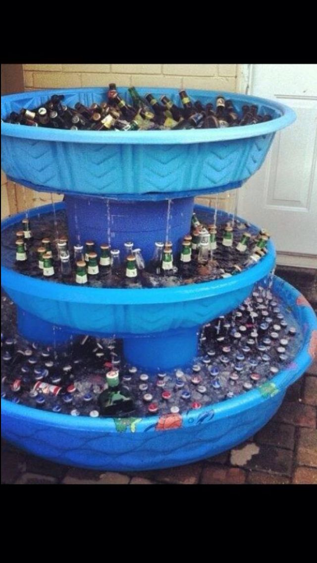 we won't be serving beer, but this could be a cute way to do the kids drinks                                                                                                                                                      More